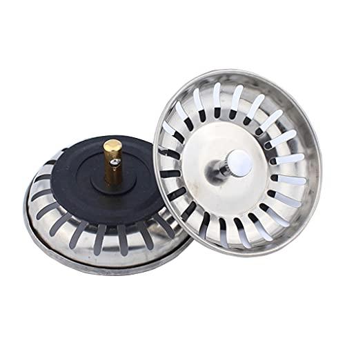 Ncheli 2pcs Filtro per Lavello da Cucina,Acciaio Inox Filtro Lavello Scarico Cucina Tappo filtro lavello scarico acciaio inox filtri Filtro per Lavello da Cucina per lavello della cucina