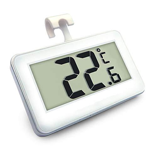 TIREOW Digitale LCD Thermometer Temperaturmesser mit Magnethaken für Kühlraum Gefriermaschine, Kühlschrank Gefrierschrank Thermometer Kühlschrankthermometer, -20 ℃ bis 60 ℃