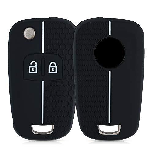 kwmobile Copri-chiave compatibile con Opel Chevrolet con 2 tasti pieghevole - protezione in silicone - Guscio protettivo copri-telecomando