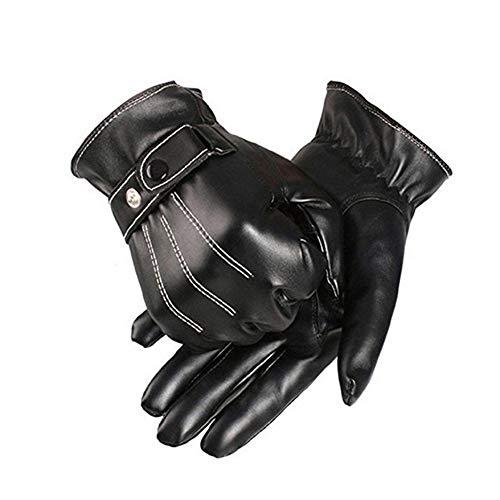 Herren Handschuhe aus PU-Kunstleder, 23 cm, Handflächenbreite 21,6 cm