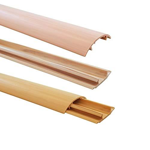 1m Fußboden Kabelkanal PVC oder ALU selbstklebend in verschiedenen Breiten, Größe Kabelkanal:40mm, Farbe Kabelkanal:Hellbraun Meliert