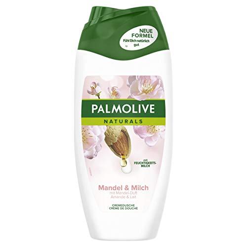 Palmolive Duschgel Naturals Mandel & Milch, 4er Pack (4 x 250 ml) - Cremiges Duschgel für weiche Haut, geeignet für jeden Hauttyp