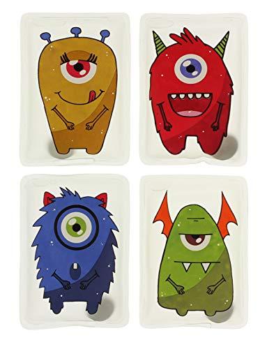 MIK Funshopping Calentadores de manos (4 unidades) de monstruos