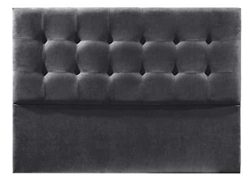 Cabecero de Cama tapizado en Tela Nido. Altura 120cm. Color Gris. para Cama de 150 (Medidas 160x120x8) Pro Elite.