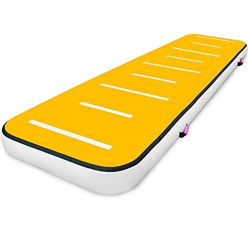 VEVOR Tapis de Gymnastique Gonflable Tapis de Gymnastique Airtrack PVC Tapis de Tumbling Pression...