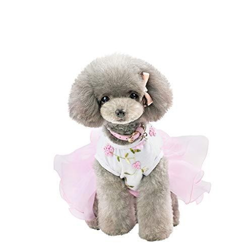Xmiral Tutu Abiti per Cani di Piccola Taglia Vestitino per Gatti e Cani di Piccola Abiti per Cani Grandi Netto Velo nebbioso XL Rosa