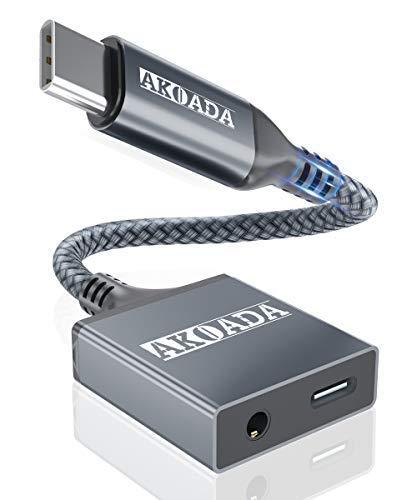 Adaptador de auriculares USB C con PD de carga rápida,AkoaDa 2 en...