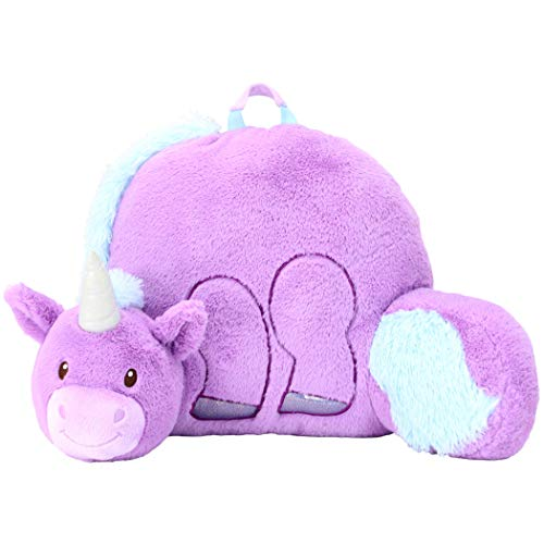 "Animal Adventure | Soft Landing | Nesting Nooks | Plush Unicorn Backrest, Purple/Blue, 14"" x 26"" x 16"""