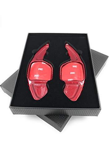 H-Customs Cambio Shift Paddle in fibra di vetro DSG per 2004-2012 A1 (10-12) A3 S3 RS3 (06-12) A4 S4 RS4 (04-12) A5, S5, RS5 (07-12) A6 S6 RS6 (04 - 12) / colore rosso