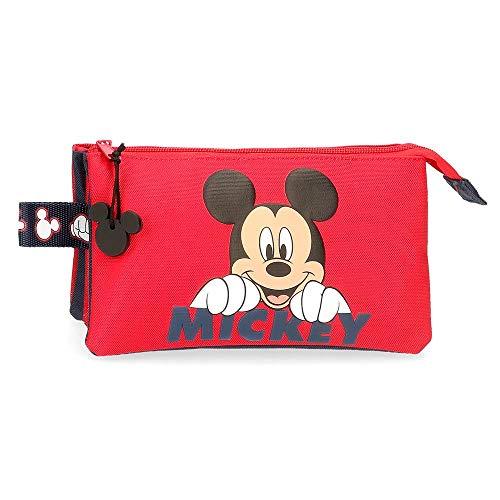 Disney Estuche Happy Mickey Tres Compartimentos