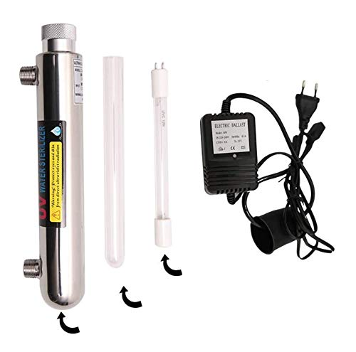 AFF UV-desinfectie UV-licht water filter slang lamp voor water sterilisator 220V 12W 1GMP met roestvrij staal 304 UV-1.0G