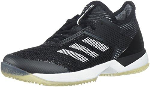 adidas Women's Adizero Ubersonic 3 Clay Tennis Shoe, core Black/White/core Black, 9.5 M US