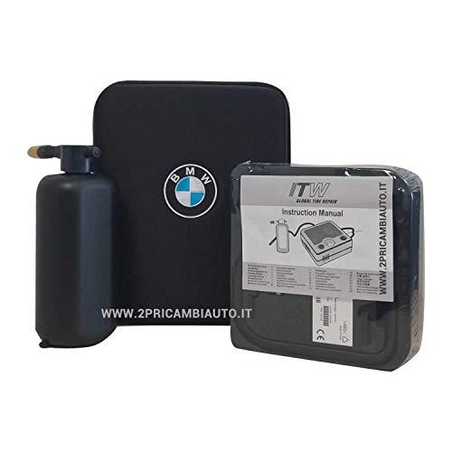 2parts BMW Originale - Kit COMPRESSORE TIREFIT GONFIAGGIO Riparazione Pneumatici con Custodia Rigida E Guanti Multiuso