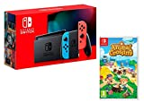 Nintendo Switch V2 32Gb Neon-Rot/Neon-Blau [neues model] + Animal Crossing: New Horizons