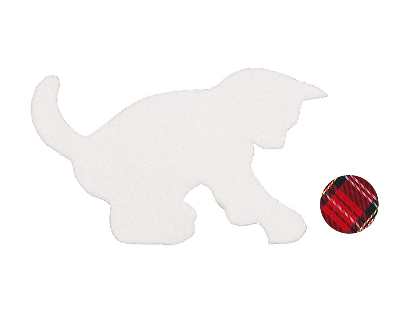 Fabric cat appliqué with Iron-on Ball