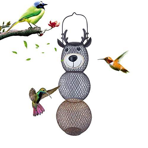 succeedw Hängender Vogelhäuschen, eichhörnchenfester Wildvogelhäuschen, Wildvogelhäuschen mit großer Kapazität für Gärten, Terrassen, Veranden und Höfe (braun)