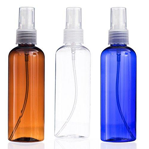 Conjunto de botella de viaje 3piezas Transparente Pequeño Tamaño de viaje maquillaje líquido contenedores a prueba de fugas vacío Perfum atomizador atomizador de tarro