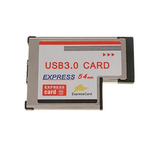 balikha 54 Mm PCI ExpressCard Expresscard a Adaptador de Tarjeta Adaptadora USB 3.0 de 2 Puertos