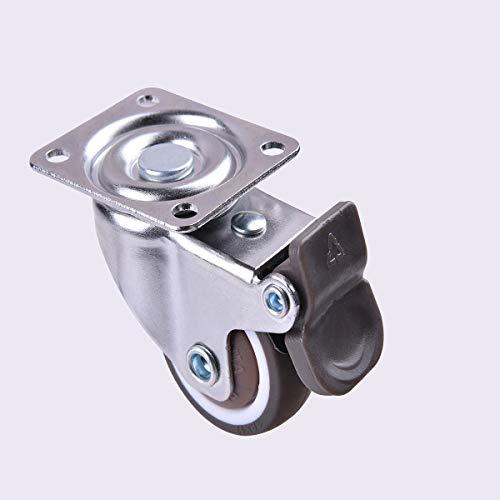 41Hc3Ij0qPL. SL500  - 4 ruedas para muebles de 25 mm con tornillos, frenos de goma, pequeñas ruedas giratorias para muebles, ruedas de carga pesada para muebles de palés (25 mm)