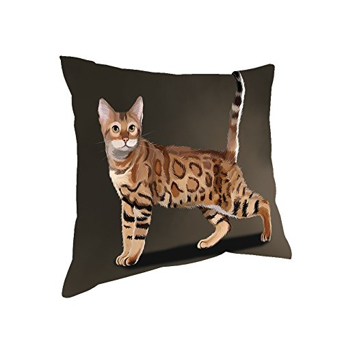 Doggie of the Day Bengal Cat Throw Pillow (14x14)