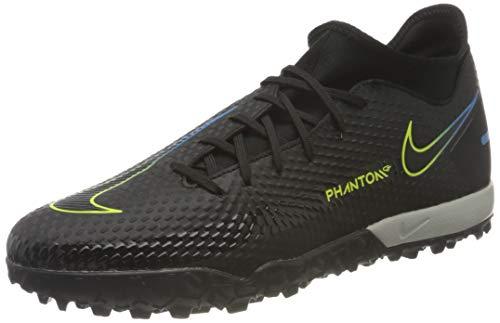 Nike Phantom GT Academy DF TF, Scarpe da Calcio Unisex-Adulto, Black/Black-Cyber-lt Photo Blue, 42 EU