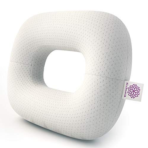 Lelekka Alchimia - Almohada antiarrugas para dormir boca abajo y de lado, incluye 2 fundas