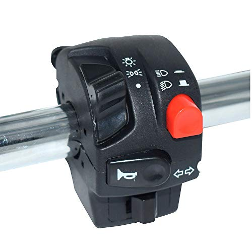 ZXLLNEUR 7/8 Motorcycle stuurschakelaar Button galvanische startmotor Installatie Switch Accessary (Color : Black)