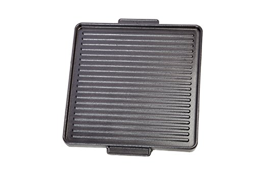 FALCI Grill a steack Fonte emailee, Gris, 38,5x38x2 cm