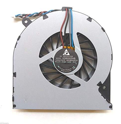 Por Unbrand - Ventilador de refrigeración para ordenador portátil Toshiba Satellite C850, C850D, C855, C855D, C870, L850, L850D, L870, L870D, 4 cables.