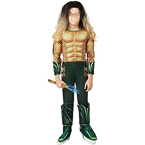 SONG Disfraces de Halloween, Disfraces de los músculos del superhéroe Infantil, Disfraces de Cosplay de Personajes de películas, adecuados para niños de 4 a 12 años (Color : Yellow, Tamaño : M)
