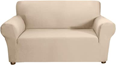 Docooler Stretch Sofa Slipcover Milk Silk Fabric Anti-Slip Soft Couch Sofa Cover 2 Seater Washable for Living Room Kids Pe...