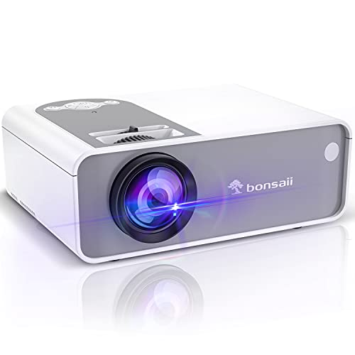 """Movie Projector Outdoor, 1080p Supported Mini Projector with 200"""" Display, 5500 Lux Video Projector 2000:1 Contrast Ratio for Outdoor Movie Home Theater, Compatible with HDMI,TV Stick,Laptop,TF/SD"""