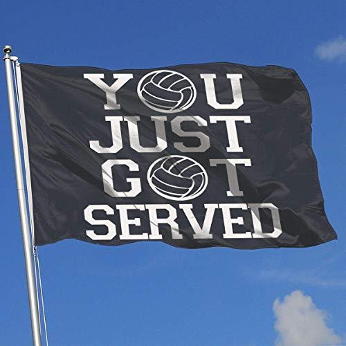 BHGYT Printed Home Hinterhof Garten Flagge Sie haben gerade serviert Volleyball 100% Polyester Single Layer Flags 3 X 5