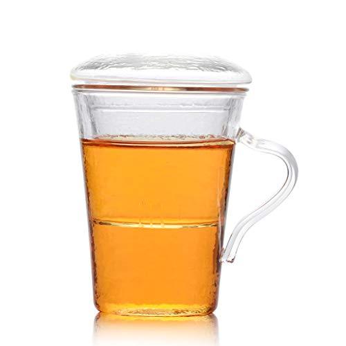 Chahu Tasse En Verre Épaisse Et Résistante À La Chaleur De Tasses À Thé De Fleurs Filtre Tasse Intérieure Tasse Tasse De Bureau Tasse Tasse