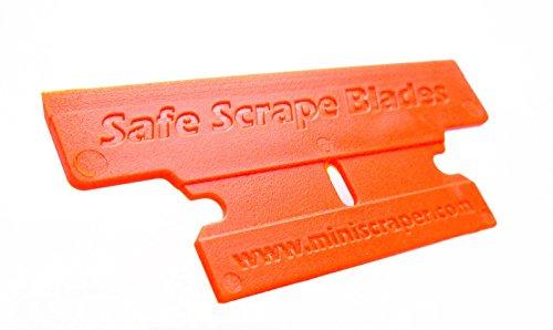 MINISCRAPER Plastic Razor Blades, T Blade 50% Wider 20 Pack