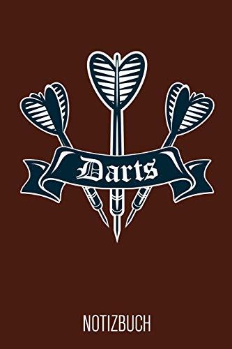 Darts Notizbuch: Braunes Punktraster Dart Notizheft für Dartspieler ca DIN A5 weiß punktiert 110 Seiten