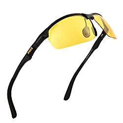ac1ab065d85 Soxick HD Polarized Anti-Glare Safety Glasses for Night Driving and outdoor  activities