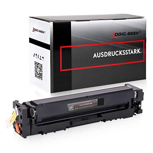 Logic-Seek Toner kompatibel mit HP CF-540X für Color Laserjet Pro M254nw M254dw MFP M280nw M281fdn M281fdw - 203X Schwarz 3.200 Seiten