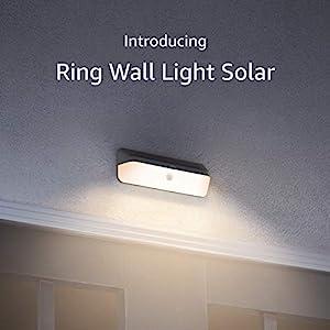 Introducing Ring Smart Lighting – Wall Light Solar, Black (Bridge required)