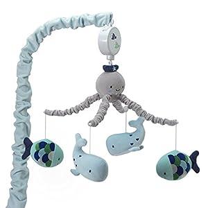 Lambs & Ivy Oceania Musical Nursery Crib Mobile – Ocean, Whale, Underwater Theme