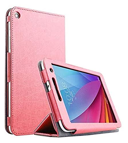 LCM Accesorios De Pestañas para Huawei MediaPad T1 7.0, Funda De Piel De Cuero De PU De Soporte De Seda Ultra Delgada para Huawei MediaPad (Color : Rose Red)
