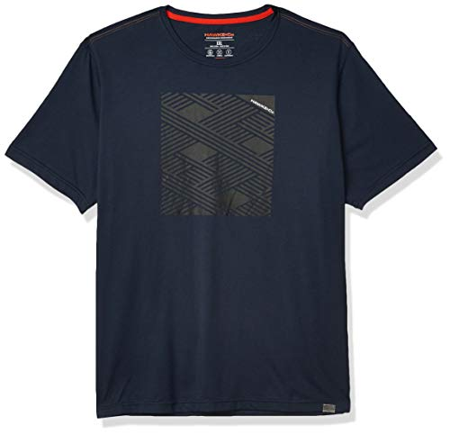 Hawke & Co Men's Big and Tall Printed Motion Fit Crew Neck T-Shirt, Eclipse, XX-Large