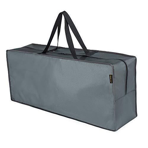 Hentex Cover Schutzhülle für Auflagen - Wasserabweisende Gartenpolster Aufbewahrung Tasche mit Tragegriff (175L*80W*60H cm)