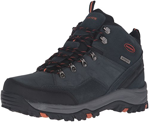 Skechers USA Men's Relment Pelmo Chukka Boot,Gray,10.5 M US