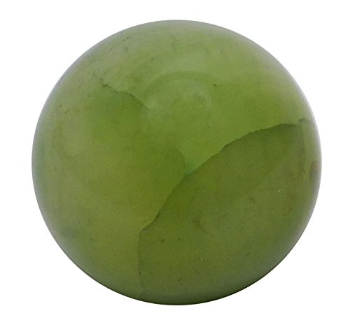 Harmonize Green Prehnite Sphere Ball Balancing Art Reiki Healing Stone Table Décor