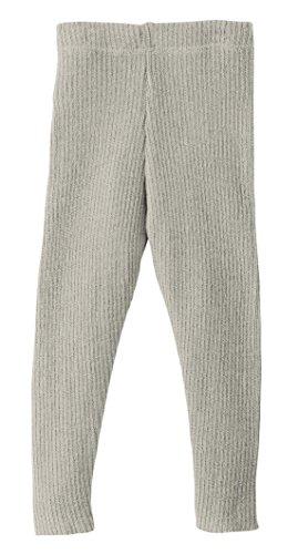 Disana 33209XX - Strick-Leggings Wolle, grau, 98/104