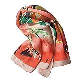 CHENDX Clásico Verano Mujer 60cm Sarga Pequeños Cuadrados Bolsa Decorativa Bufanda Playa Protector Solar Chal (Color : 02, Size : 60 * 60cm)