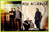 1art1 Rise Against Poster und Kunststoff-Rahmen - The Black