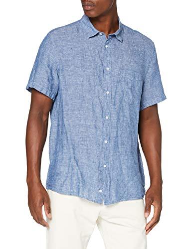 Celio Herren RACARA Shirt, Blau (Chambray), S