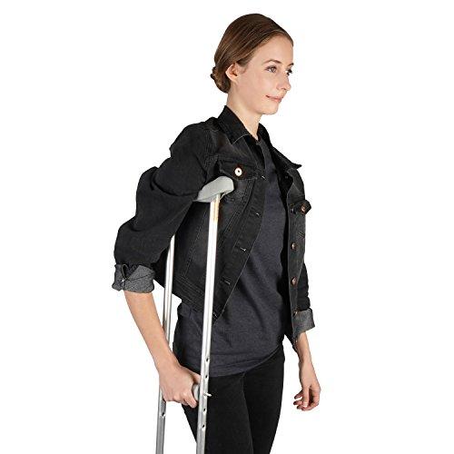 Soles Walking Crutches - Paar - Justierbares, faltbares Aluminium - Männer oder Frauen - Leicht, bequem u. Haltbar (Mittel)